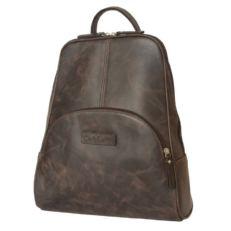 Женский рюкзак кожаный коричневый Эстенс