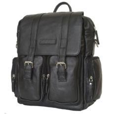 Кожаный рюкзак-сумка Фиорентино черный