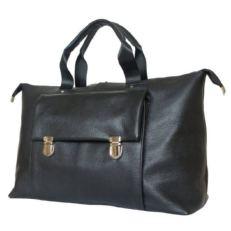 Кожаная дорожная сумка Альберола черная