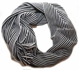 Шарф 932  бело-черный