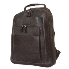 Кожаный мужской рюкзак Монфестино коричневый