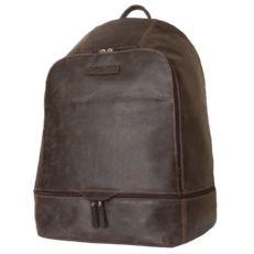 Мужской кожаный рюкзак Мерленго коричневый фото-2