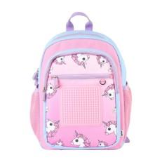 Рюкзак для девочки с единорогами розовый U18-015