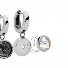 Серьги - база Basic silver 301564 S
