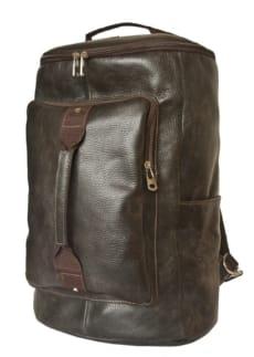 Дорожная сумка-рюкзак Верделло коричневая