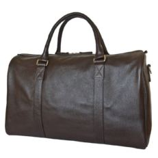 Мужская дорожная сумка из кожи Ноффо коричневая