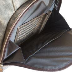 Большой кожаный рюкзак Жерардо черный фото-2