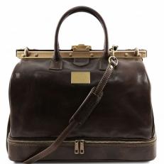 BARCELLONA - Дорожная сумка из натуральной кожи с рамочным замком