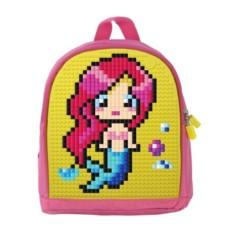 Пиксельный мини рюкзак для девочки WY-A012 фото-2