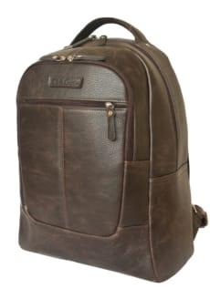 Кожаный городской рюкзак Кольтаро коричневый
