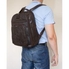 Мужской рюкзак кожа Монтегротто коричневый