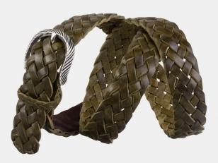 Плетеный ремень AT30-118 оливковый