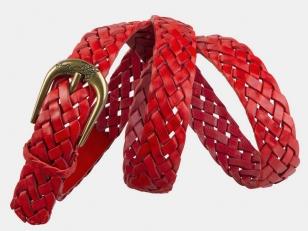 Плетеный ремень AT30-119 красный