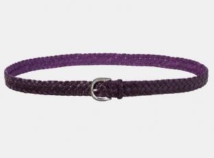 Плетеный ремень AT30-124 фиолетовый