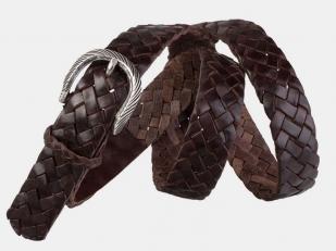 Плетеный ремень AT30-122 коричневый