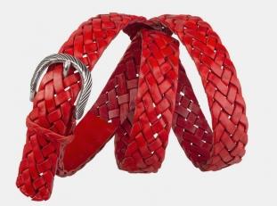Плетеный ремень AT30-124 красный
