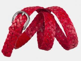 Плетеный ремень AT30-125 красный