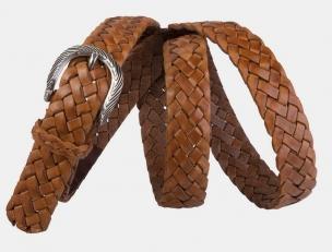 Плетеный ремень AT30-126 коричневый