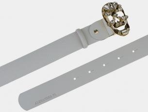 Кожаный ремень AT40-097 белый
