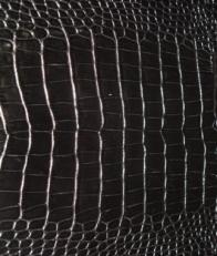 """Натуральная кожа """"Кроко черный"""" фото-2"""