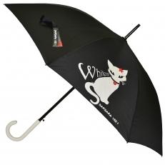 """Дизайнерский зонт-трость """"White Cat"""""""