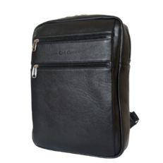 Кожаный мужской рюкзак Берутто черный