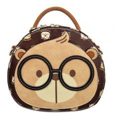 Мини-сумка CreamBear коричневая