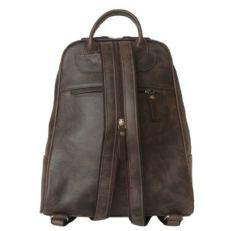 Женский рюкзак кожаный коричневый Эстенс фото-2