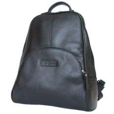 Черный женский кожаный рюкзак Эстенс