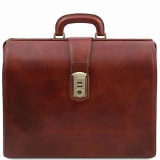 Canova - Кожаный портфель-саквояж с 3 отделениями