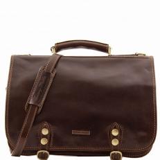 CAPRI - Кожаная сумка-мессенджер на два отделения