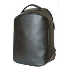 Кожаный рюкзак антивор Сольферино черный