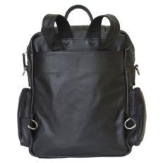 Кожаный рюкзак-сумка Фиорентино черный фото-2