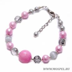 Браслет А20130Б розовый