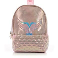 Детский дошкольный рюкзак Русалка Mermaid пудровый