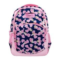 Рюкзак Зайка с сердечками темно синий с розовым