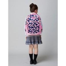Рюкзак Зайка с сердечками темно синий с розовым фото-2