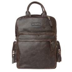 Кожаная сумка-рюкзак Рено коричневый