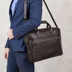 Кожаная деловая сумка Bartley фото-2