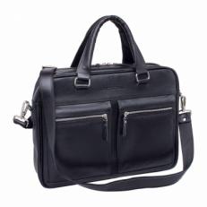 Кожаная деловая сумка Colston Black