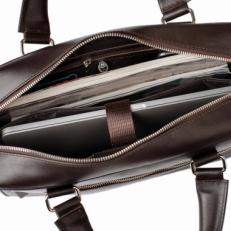 Кожаная деловая сумка Colston Brown фото-2