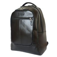 Черный кожаный гордской рюкзак Кольтаро