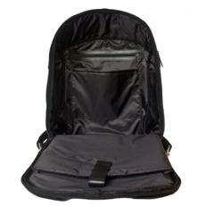 Кожаный рюкзак антивор Сольферино черный фото-2