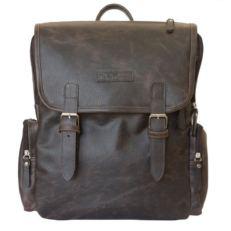 Городкой кожаный рюкзак Сантерно коричневый