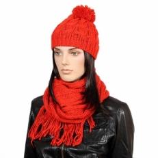 Красная шапочка с шарфом 95Ш1А_101_2