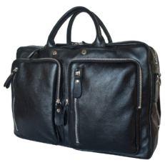 Кожаная сумка-рюкзак Ферроне черная