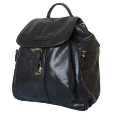 Женский кожаный рюкзак Авентино черный