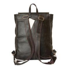 Кожаный мужской рюкзак Монтальфано коричневый фото-2