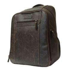 Мужской кожаный рюкзак Коссира коричневый