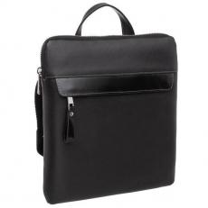 Вертикальная черная сумка с плечевым ремнем Finch